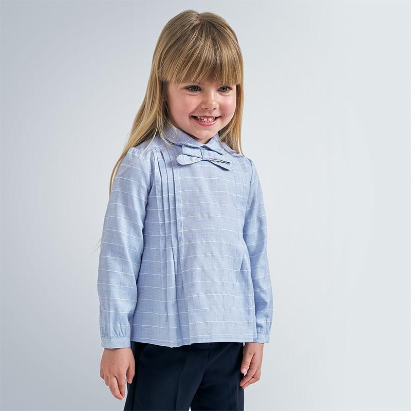 Елегантна блуза с панделка за момиче Mayoral