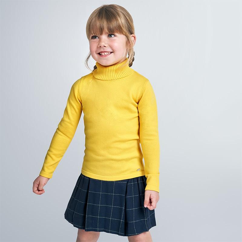 Пуловер с висока яка за момиче Mayoral