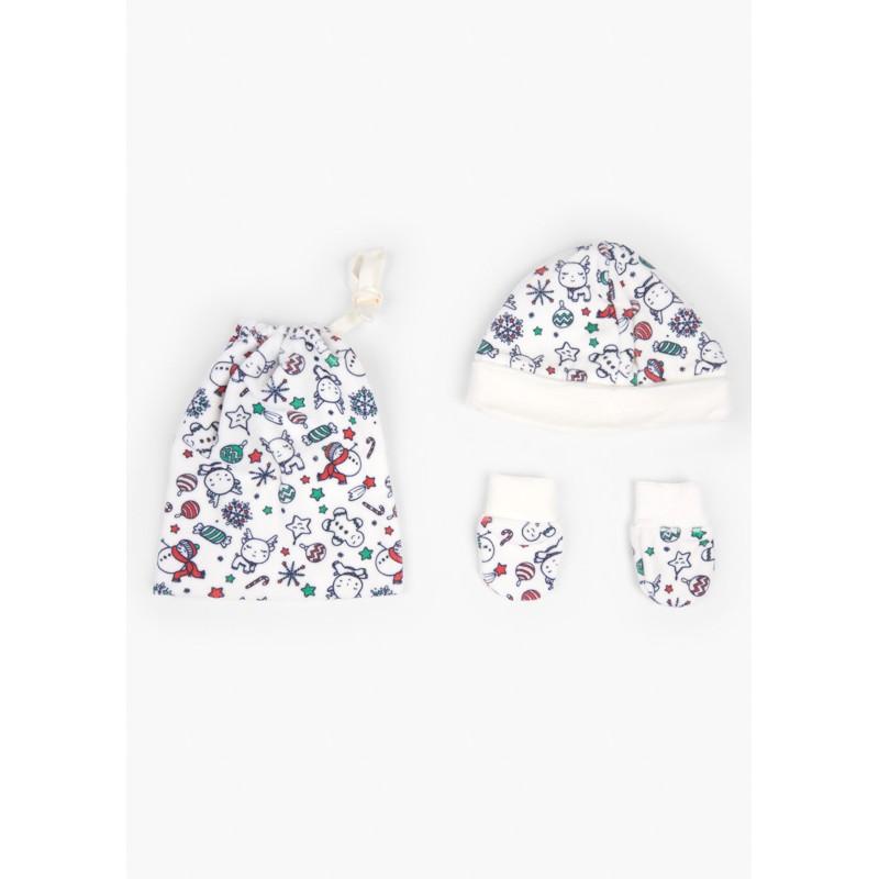 Комплект от шапка с ръкавички за бебе Losan