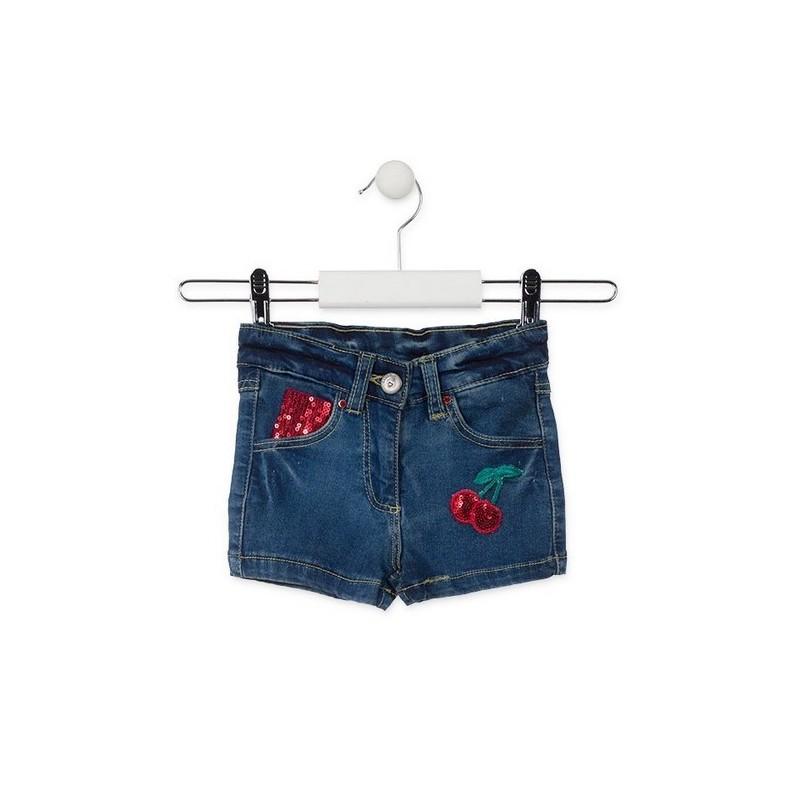 Къси дънкови панталонки за момиче Losan