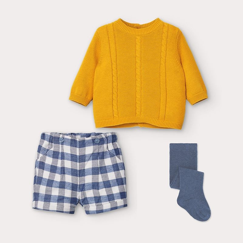 Комплект пуловер и къси панталони Mayoral