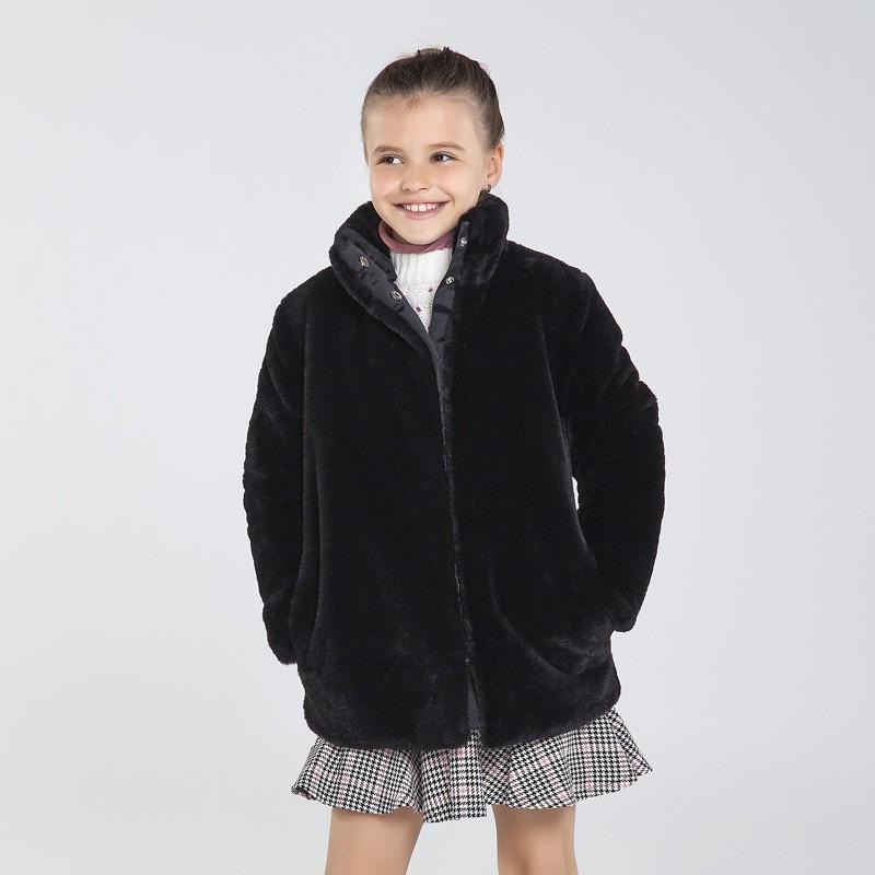 Палто с косъм за момиче Mayoral