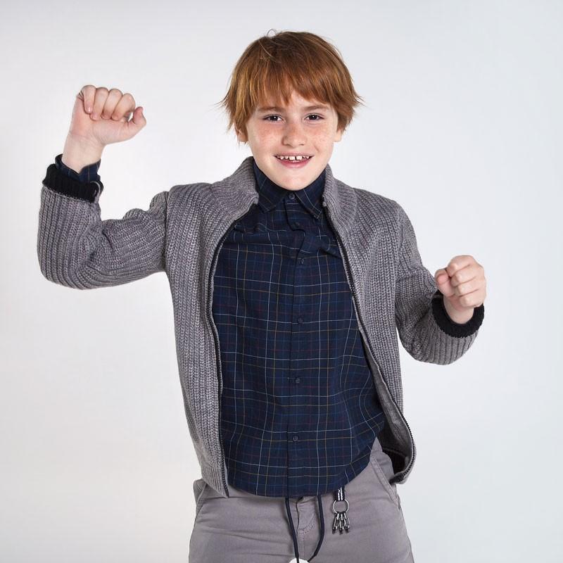 Трикотажна жилетка с цип за момче Mayoral