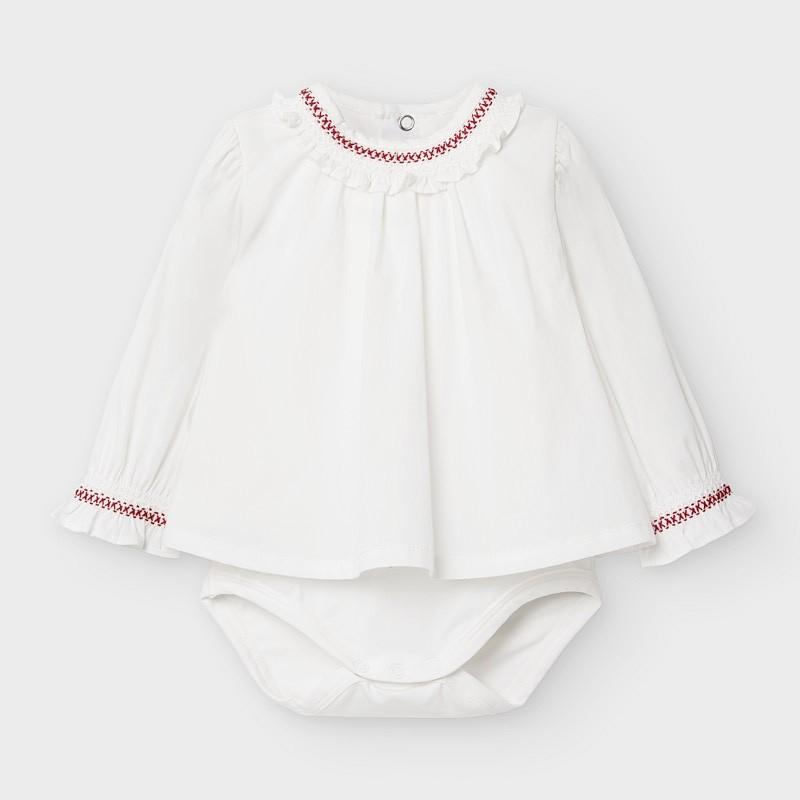 Боди тип блуза с дълъг ръкав за бебе момиче Mayoral