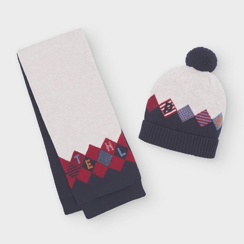 Комплект от шапка с шал...