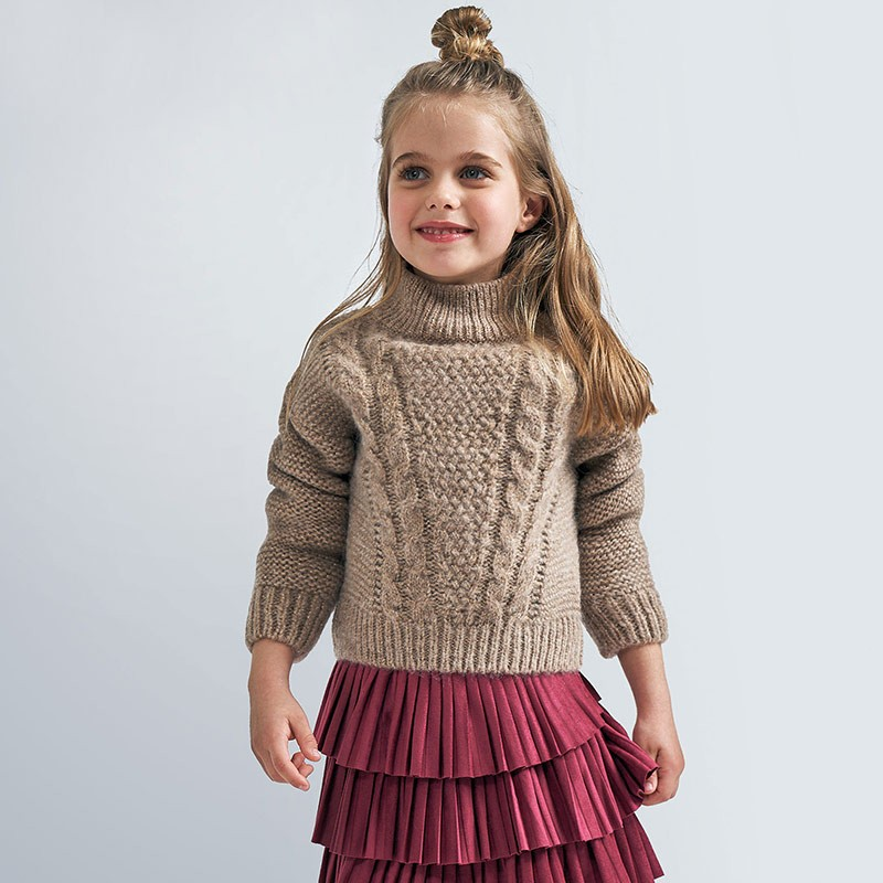Пуловер с яка за момиче Mayoral