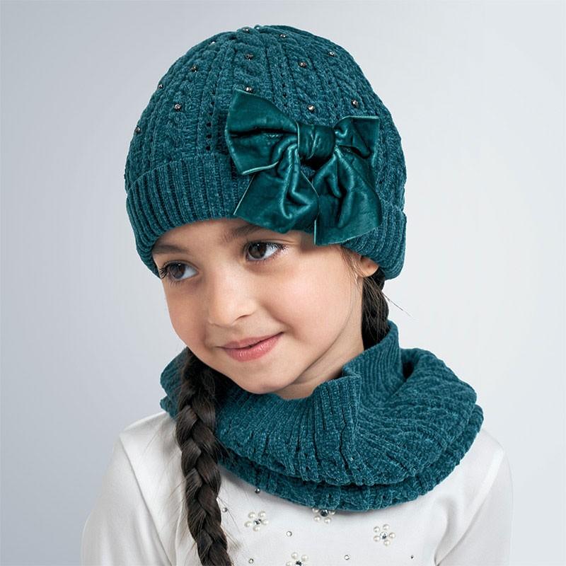 Комплект от шапка с шал за момиче Mayoral