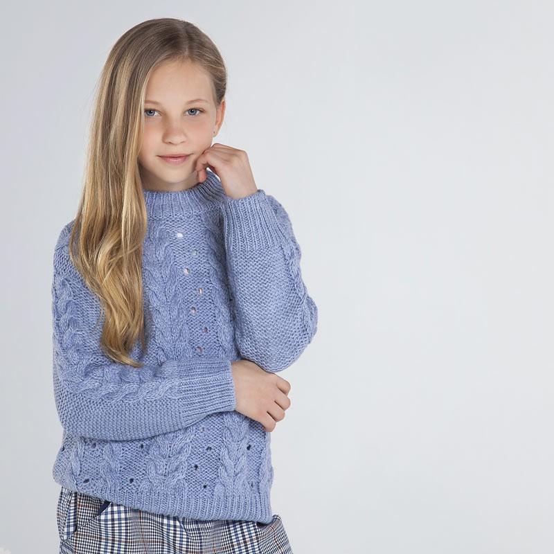 Трикотажен пуловер за момиче Mayoral
