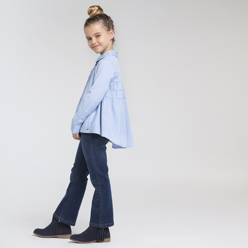 Дънков панталон тип чарлстон за момиче Mayoral