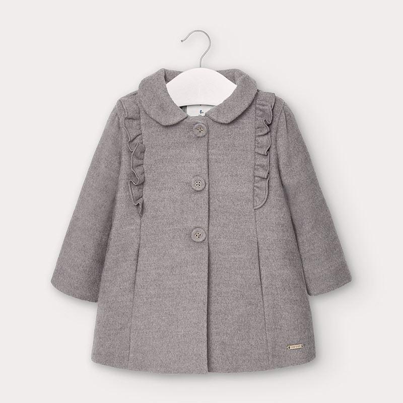 Палто с яка за бебе момиче...
