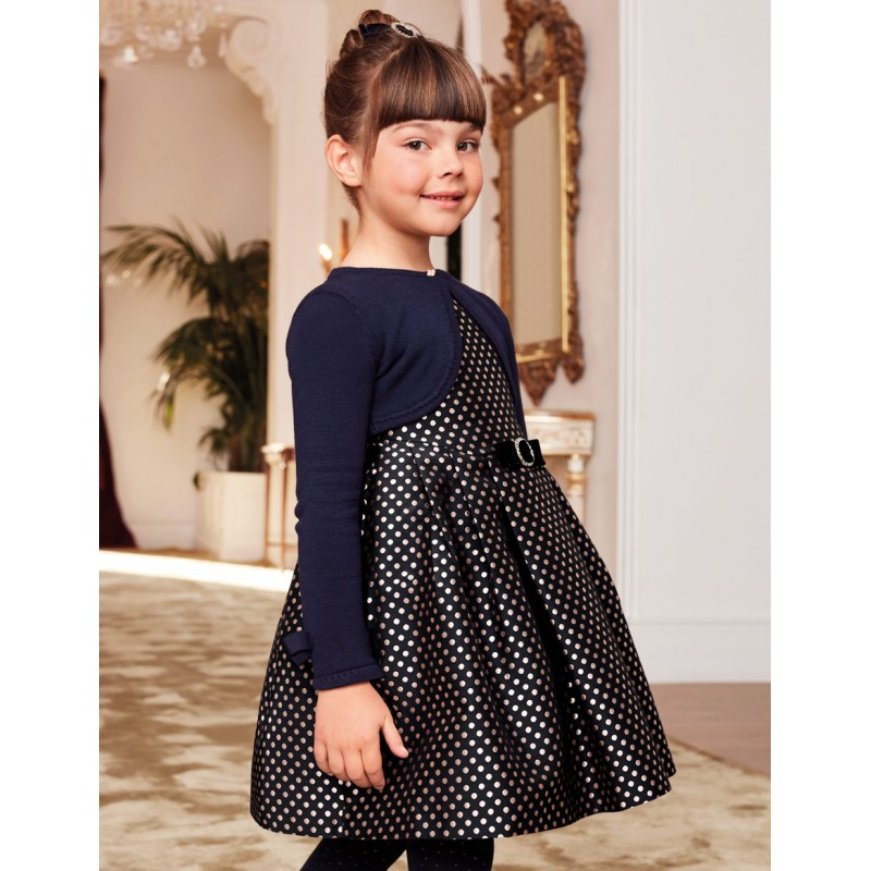 Жакардова рокля на точки...