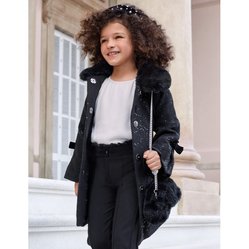 Елегантно палто с пайети за момиче Abel & Lula