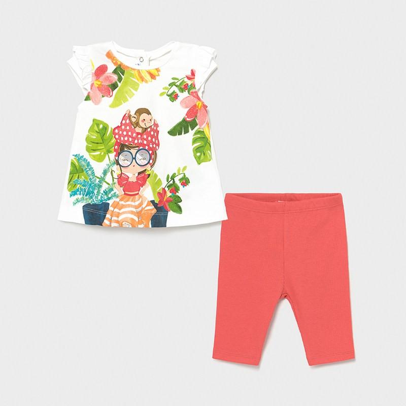Комплект клин и блуза за бебе момиче Mayoral