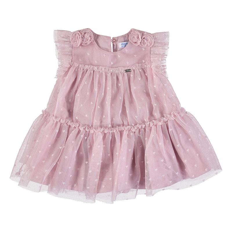 Ефирна рокля от тюл за бебе...