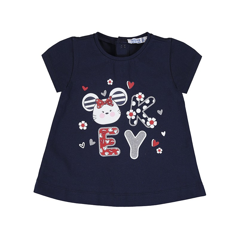 Тениска със забавна щампа за момиче Mayoral