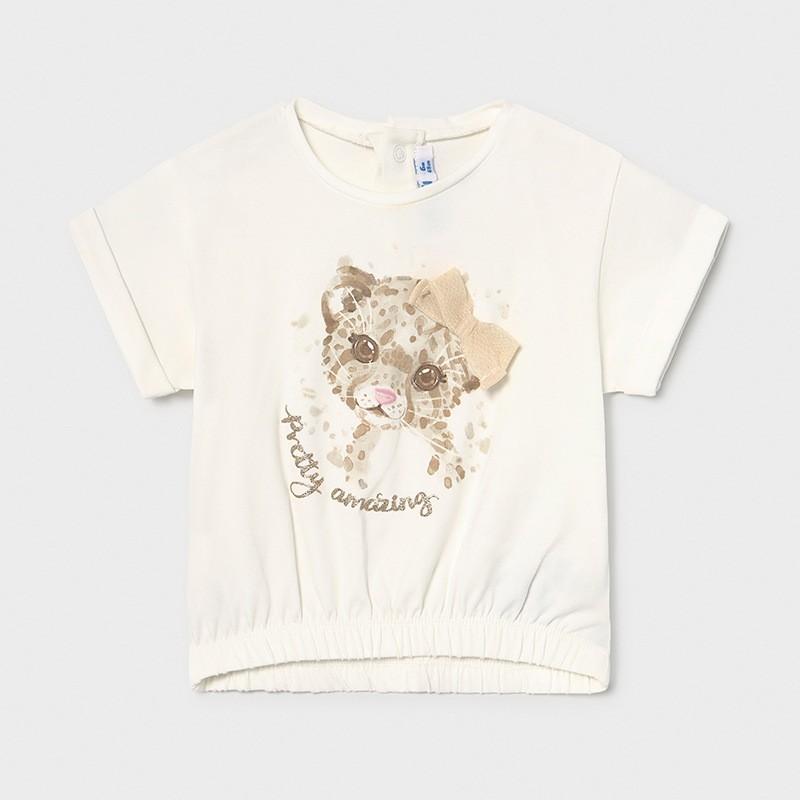 """Тениска за момиче с щампа """"леопард"""" Mayoral"""