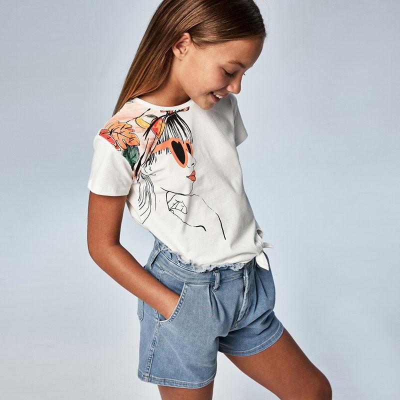 Тениска с възел за момиче Mayoral