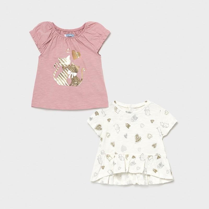 Комплект от 2 тениски за момиче Mayoral