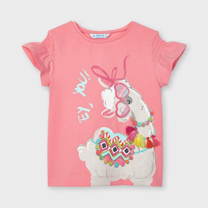 """Тениска за момиче """"лама""""..."""