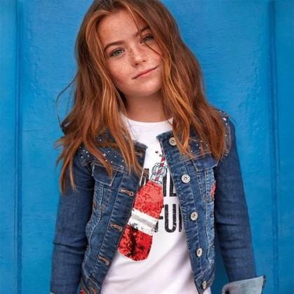 Тениска с пайети за момиче Mayoral
