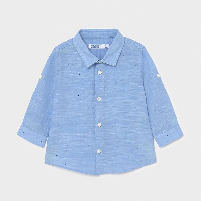 Риза от лен с дълъг ръкав...
