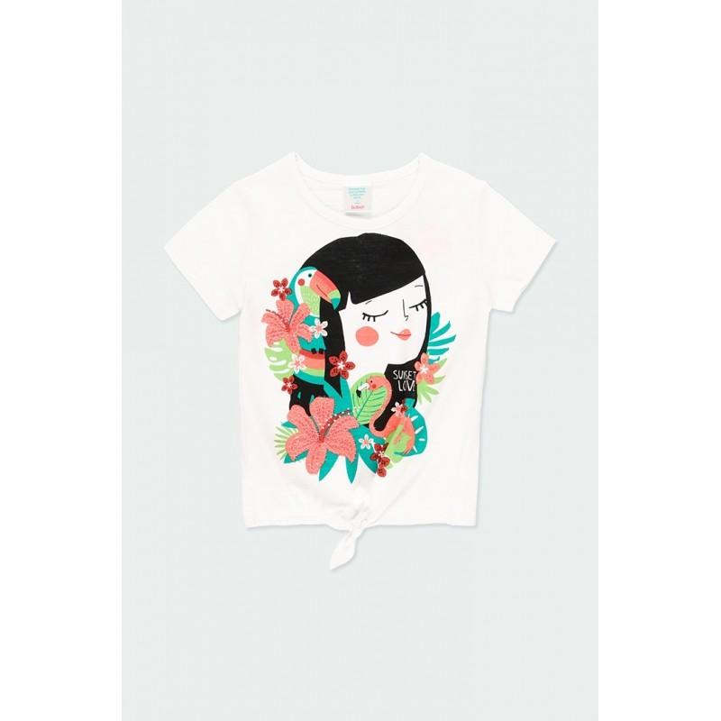 Тениска с възел за момиче...