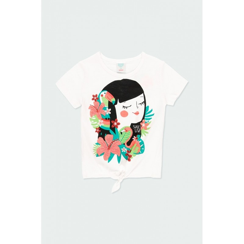 Тениска с възел за момиче Boboli