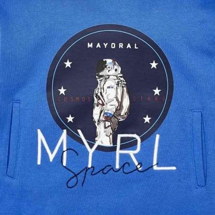 Ватирана блуза с качулка за момче Mayoral