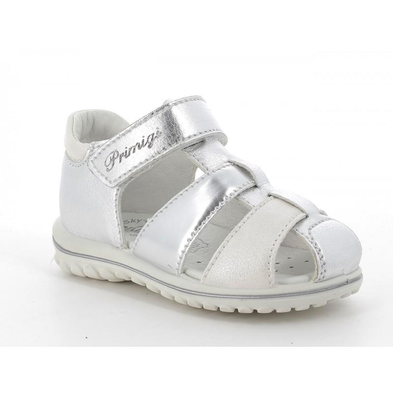 Сребърни сандали за момиче PRIMIGI