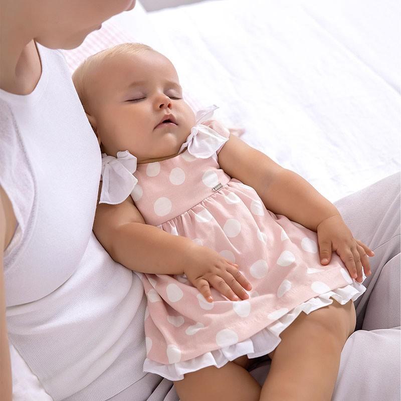 Рокля на точки за новородено момиче Mayoral
