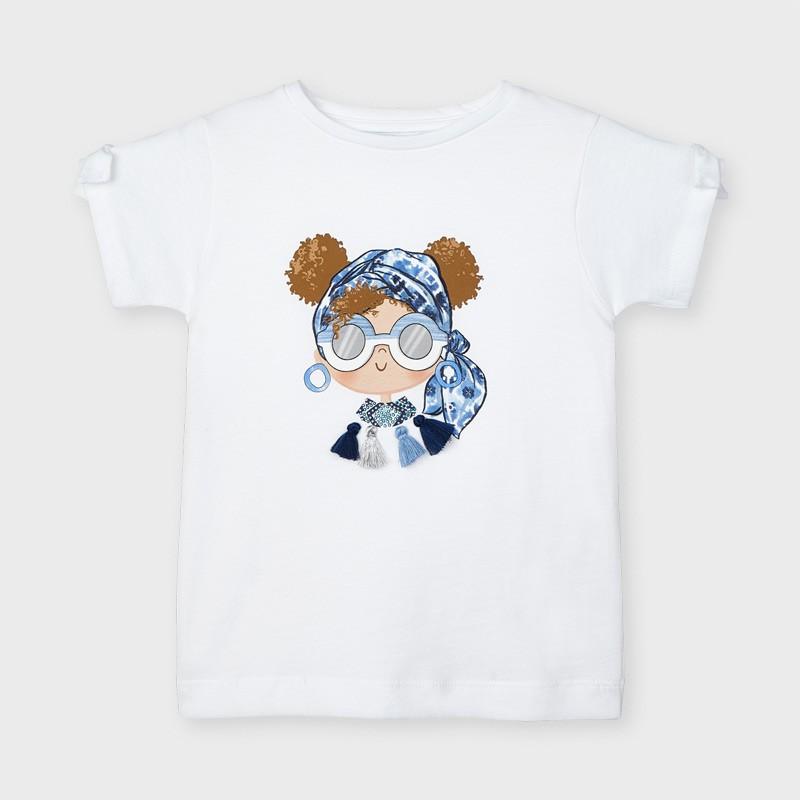 Тениска с апликация за момиче Mayoral