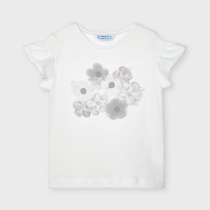 Тениска с цветя за момиче Mayoral