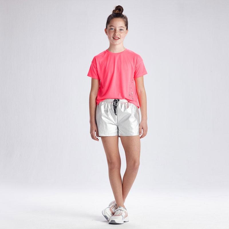 Метализирани къси панталони за момиче Mayoral