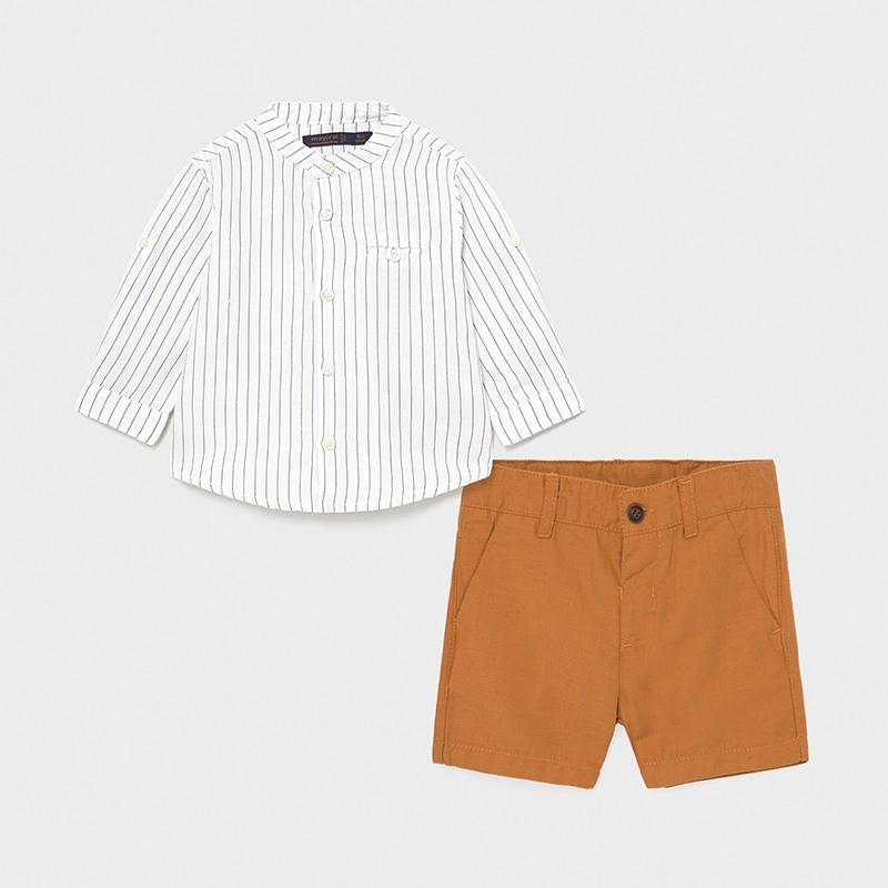 Комплект от риза и къси панталони за момче Mayoral
