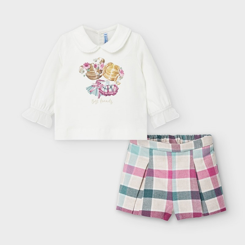 Комплект с къси панталони каре Mayoral