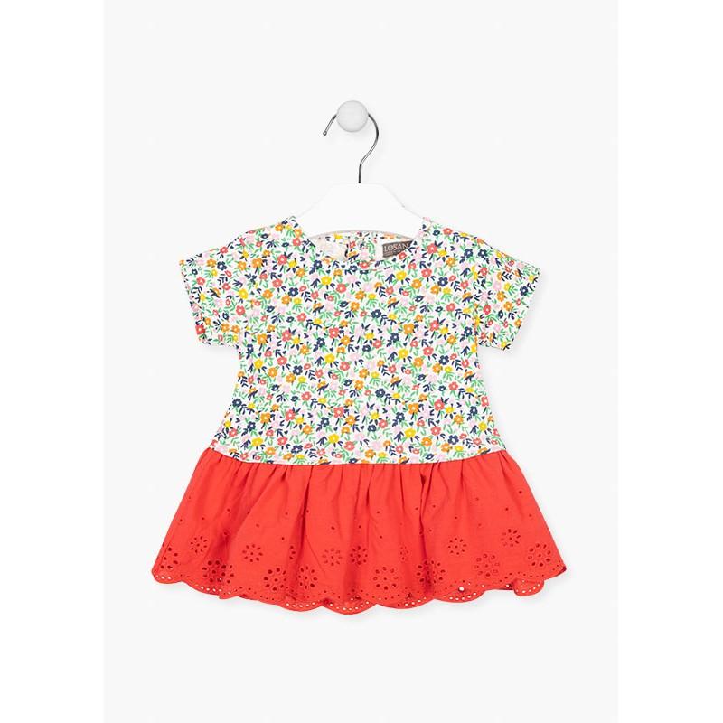 Флорална рокля за бебе момиче Losan