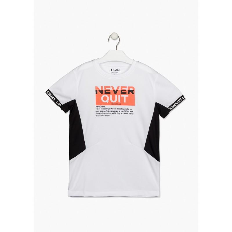 Тениска с надпис за момче Losan