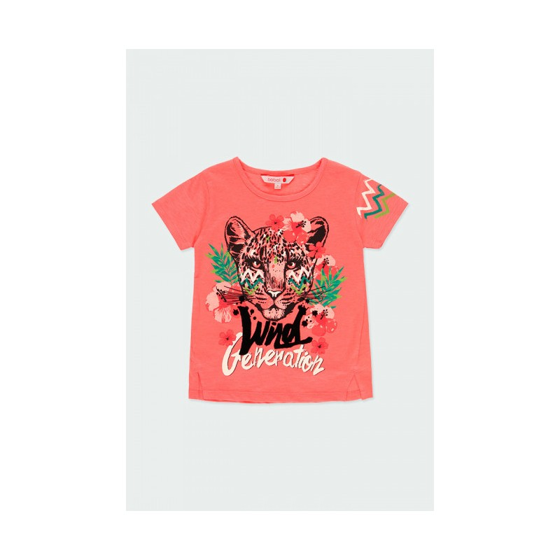 Тениска с къс ръкав за момиче Boboli