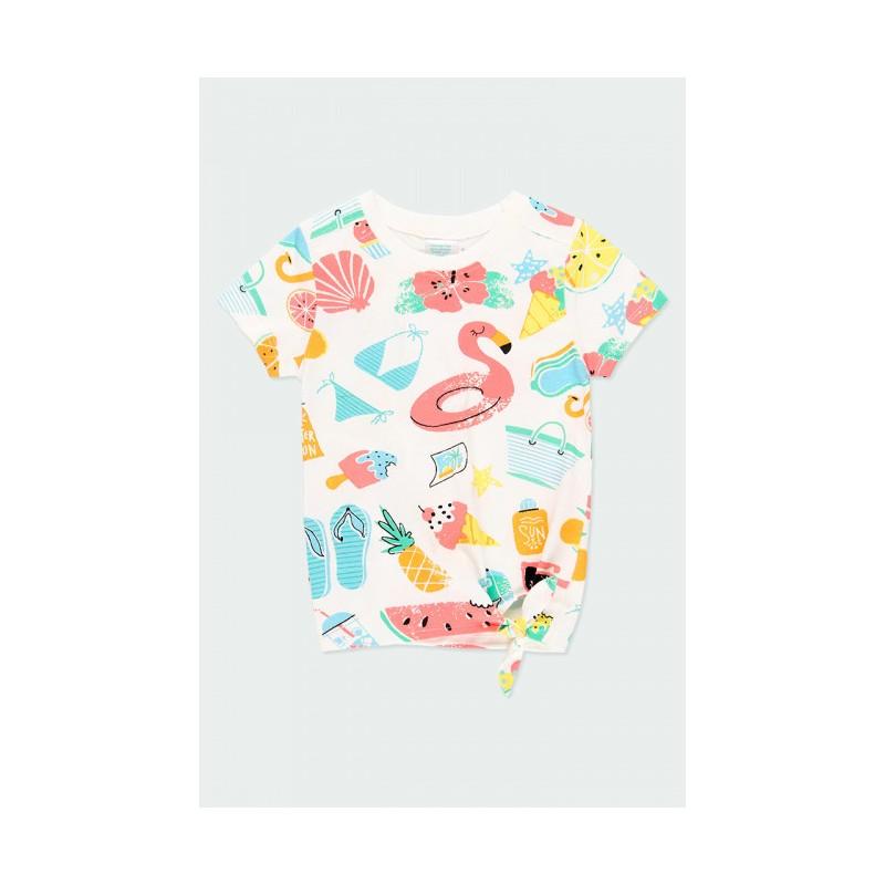 Тениска с къс ръкав Boboli за момиче