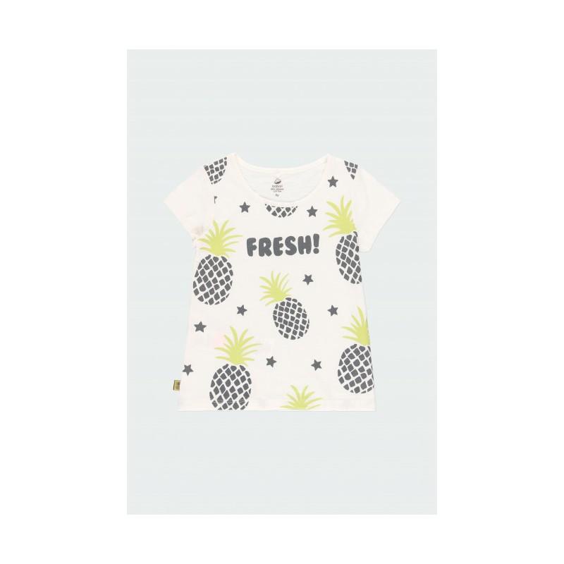 Тениска с щампа ананаси за момиче Boboli