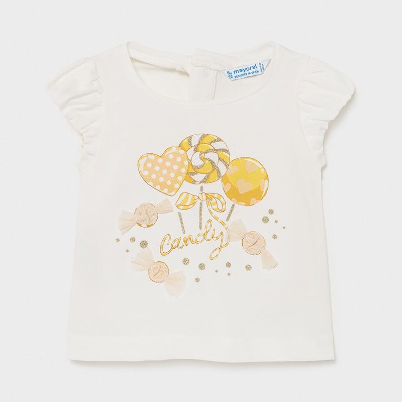 Тениска Sweet за бебе момиче Mayoral