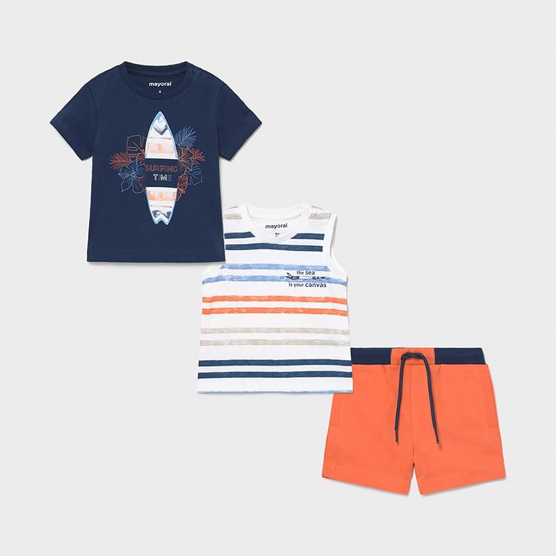 Комплект от 3 части за бебе момче Mayoral