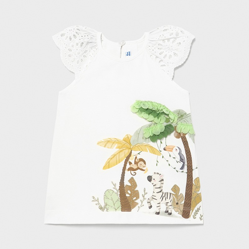 Трикотажна рокля за бебе момиче Mayoral