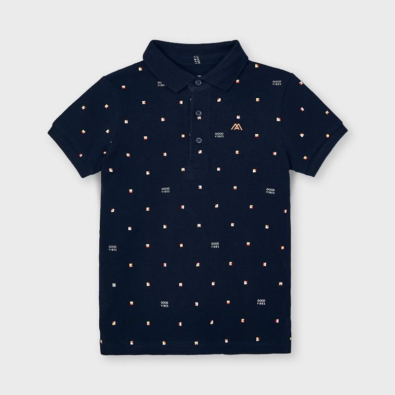 Поло тениска с щампи за момче Mayoral