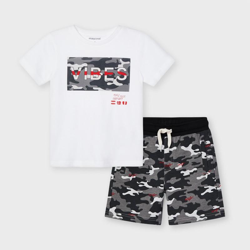 Комплект за момче тениска и къси панталони Mayoral