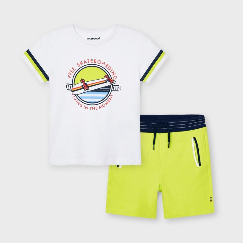 Комплект тениска и къси панталони за момче Mayoral