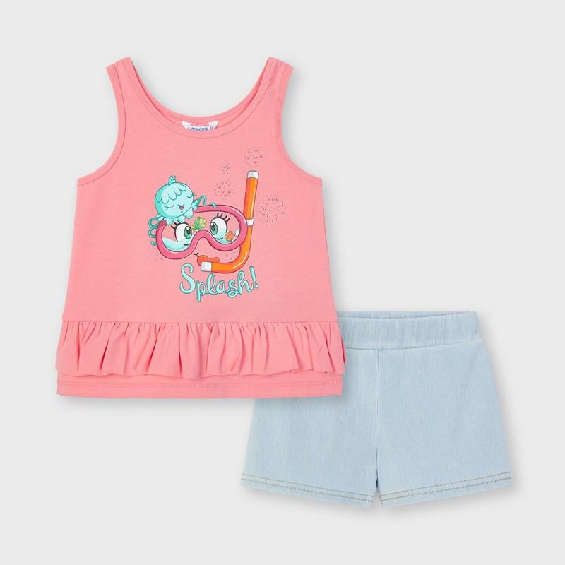 Комплект потник и къси панталони за момиче Mayoral