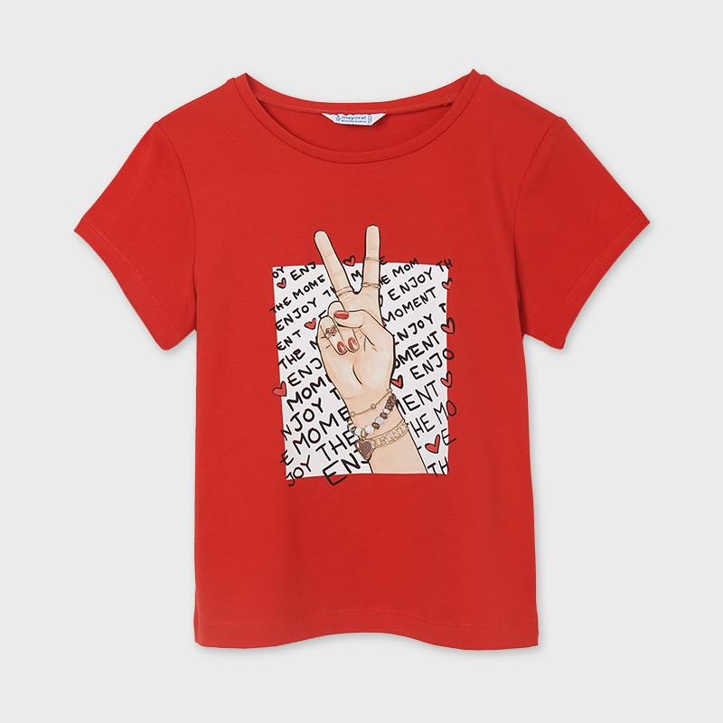 Тениска с щампа за момиче Mayoral