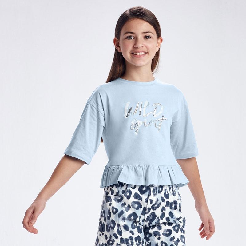 Тениска с надпис за момиче Mayoral