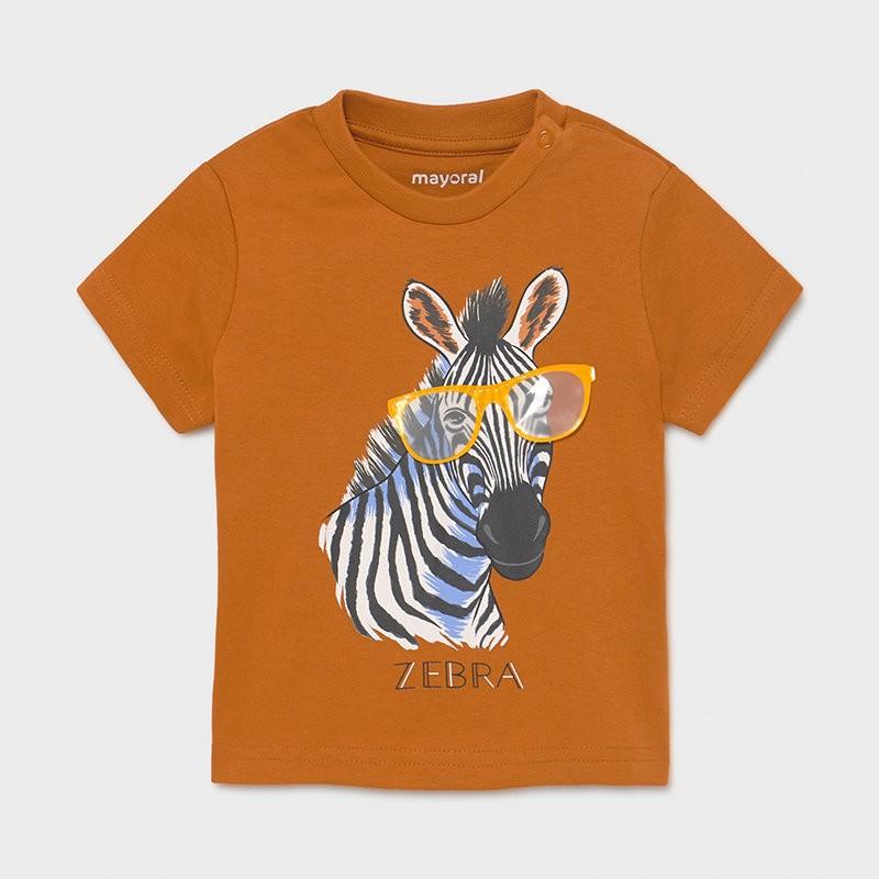 Тениска с интерактивна щампа за бебе момче Mayoral